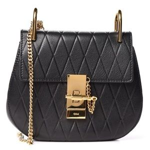 {CHLOE} Calfskin Diamond Embossed Drew Crossbody